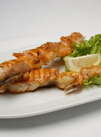 Salmon and shrimps skewer 300g