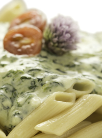 Spinach,garlic and parmesan penne 300g